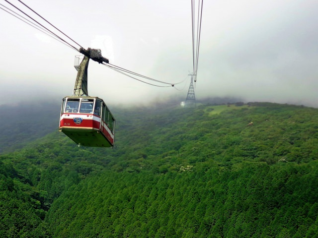 5. Travel up in the air on the Hakone Rope Way